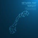 Norwegen-Netzkarte lizenzfreie abbildung