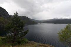 Norwegen, norwegischer Fjord Stockfotografie