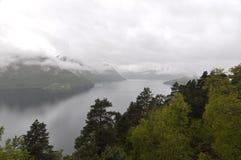 Norwegen, norwegischer Fjord Stockbild