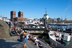 Norwegen. Oslo Stockfotografie
