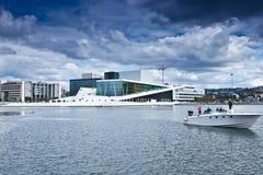 Norwegen- - Oslo-Oper Stockfoto