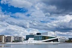 Norwegen- - Oslo-Oper Stockbild