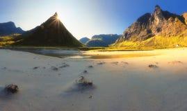 Norwegen-Sandstrand morgens Stockfoto