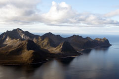 Norwegen, Senja Lizenzfreies Stockfoto