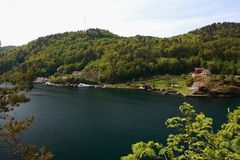 Norwegen - Sogne stockbild