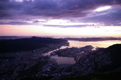 Norwegen-Sonnenschein lizenzfreie stockfotos