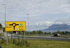 Norwegen-Straße stockfotografie