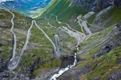 Norwegen - Trollstigen Lizenzfreie Stockfotografie