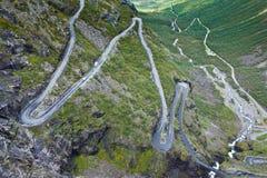 Norwegen - Trollstigen Stockbild