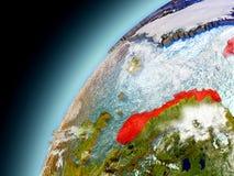 Norwegen von der Bahn von vorbildlichem Earth Lizenzfreies Stockbild