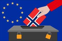 Norwegen-Wahlurne für die Europawahlen stockfotografie
