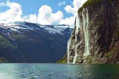 Norwegens Fjord Stockbild