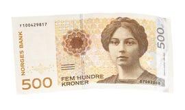Norweger 500-Krona-Banknote Lizenzfreies Stockfoto
