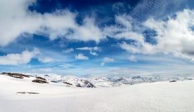 Norwegia śnieżny widok górski obrazy royalty free