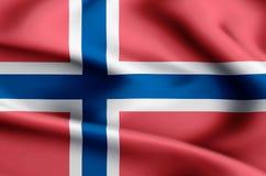 Norwegia flaga ilustracja ilustracja wektor