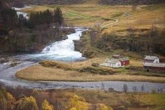 Norwegia, kraj w jesieni, Zdjęcia Stock