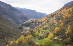 Norwegia, kraj w jesieni, Fotografia Stock