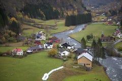 Norwegia, kraj w jesieni, Fotografia Royalty Free