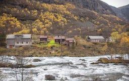 Norwegia, kraj w jesieni, Obrazy Stock