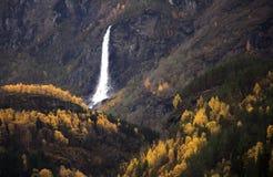 Norwegia, kraj w jesieni, Zdjęcie Stock
