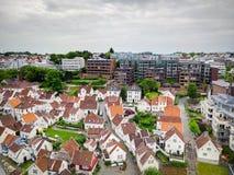 Norwegia miasta piękny widok obraz royalty free