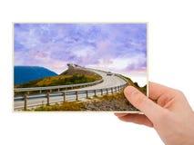 Norwegia podróży fotografia w ręce (mój fotografia) Obraz Stock