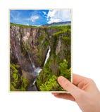 Norwegia podróży fotografia w ręce (mój fotografia) Obrazy Stock