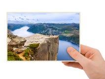Norwegia podróży fotografia w ręce (mój fotografia) Zdjęcia Stock