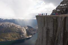 Norwegia, Preikestolen Obrazy Stock