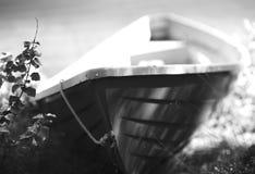 Norwegia przedmiota czarny i biały łódkowaty tło Fotografia Stock