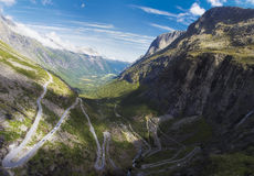 Norwegia scandinavia Podróż Trollstigen droga Obraz Royalty Free