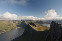 Norwegia, Senja Zdjęcie Stock