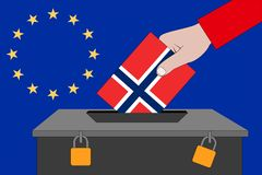 Norwegia tajnego głosowania pudełko dla Europejskich wyborów fotografia stock