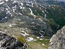 Norwegia widok od Dalsnibba droga Geiranger fotografia royalty free