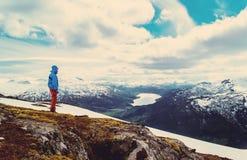 Norwegia wycieczkuje rocznika Fotografia Royalty Free