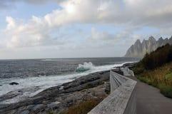 Norwegia, wyspa Senja Obraz Royalty Free