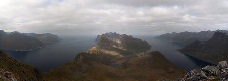 Norwegia, wyspa Senja Obrazy Stock