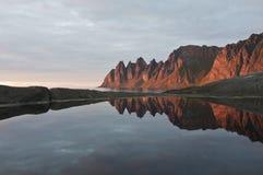 Norwegia, zmierzch Fotografia Stock