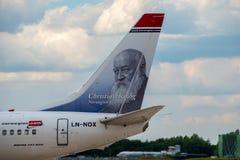 Norwegian Air Boeing 737 tail Stock Photos