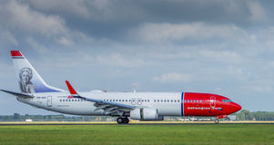 Norwegian Air. On Schiphol Airport in Amsterdam Royalty Free Stock Photo