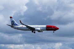 Norwegian Air Shuttle ASA, Boeing 737-8JP Imagem de Stock Royalty Free