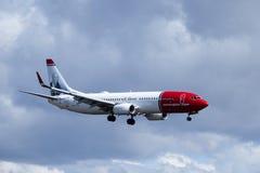 Norwegian Air Shuttle ASA, Boeing 737 - 8JP obrazy stock