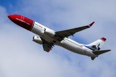 Norwegian Air Shuttle ASA, Boeing 737-800 zdejmował fotografia stock