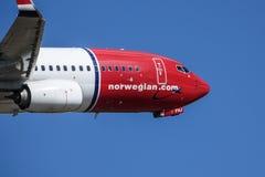 Norwegian Air Shuttle ASA, Boeing 737 - 800 zdejmowali fotografia royalty free