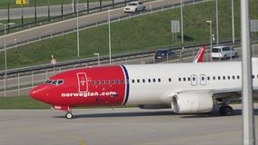 Norwegian Air Shuttle Boeing 737-800 LN-NGP stock video footage