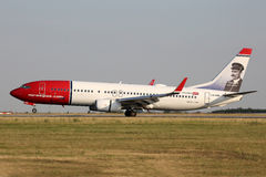 Norwegian Air Shuttle Royalty Free Stock Photography