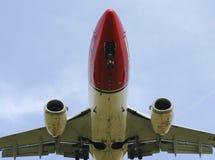 Norwegian airliner stock image