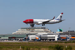 Norwegian Airlines Aircraft landing at Cologne airport Stock Image