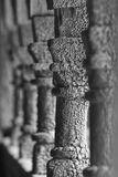 Norwegian ancient wooden columns detail. Borgund stave church. N Royalty Free Stock Image