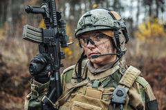 Norwegian Armed Forces female soldier Stock Photos